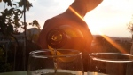 Wine by sunset